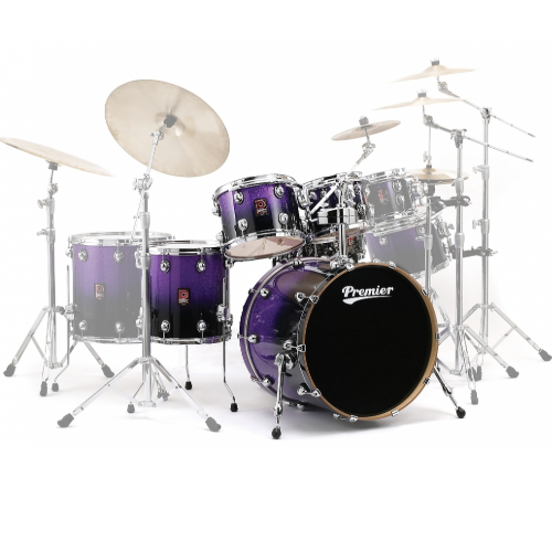 Premier Genista Maple Purple Sparkle Fade Shell Set 10/12/14/20