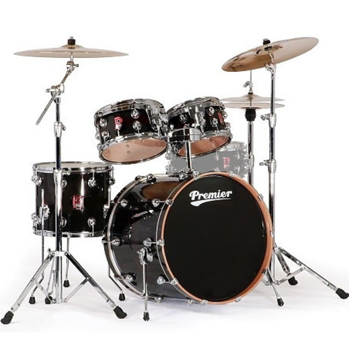 Premier Genista Maple Black Laquer Shell Set 10/12/16/22