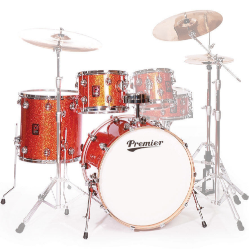 Premier Genista Maple Burnt Orange Sparkle Shell Set 13/16/24