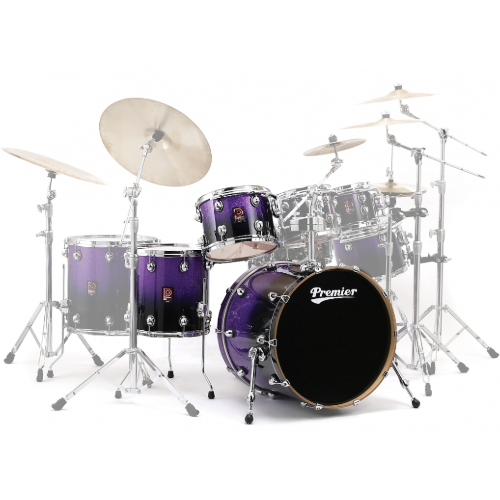Premier Genista Maple Purple Sparkle Fade Shell Set 13/16/24