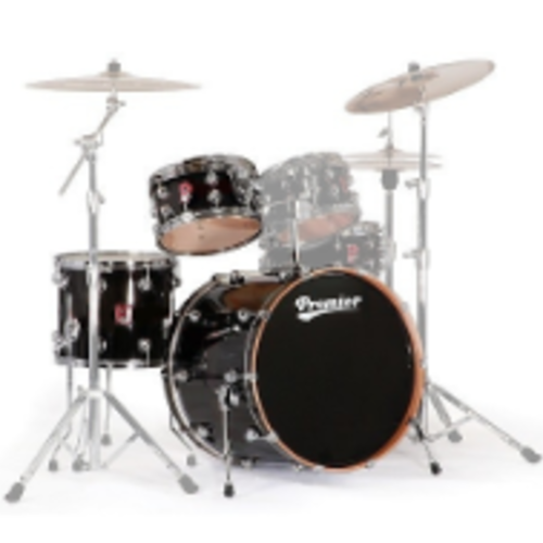 Premier Genista Maple Black Laquer Shell Set 13/16/24